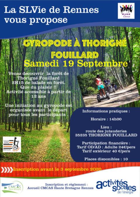 Gyropode en forêt de Thorigné